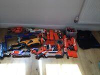 Nerf gun bundle inc rare swarmfire, nerf jacket, raider cs-35, modulus with add ons