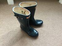 Boys & Girls Navy Blue Hunter Wellies UK Size 2