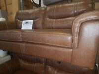 ScS Dayson brown leather 3 x 3 Seater Leather Sofa