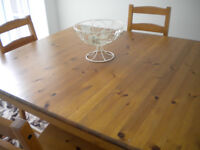 TABLE AND 4 CHAIRS - IKEA
