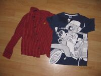 Bundle of boys clothes. 2 items in total. For 7 yr old boys. 1 t shirt and 1 collared button down.