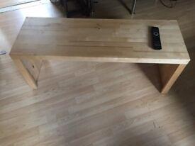 Wooden indoor bench