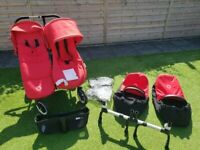 Bugaboo Twin Donkey stroller with full range of accessories, buy now £700