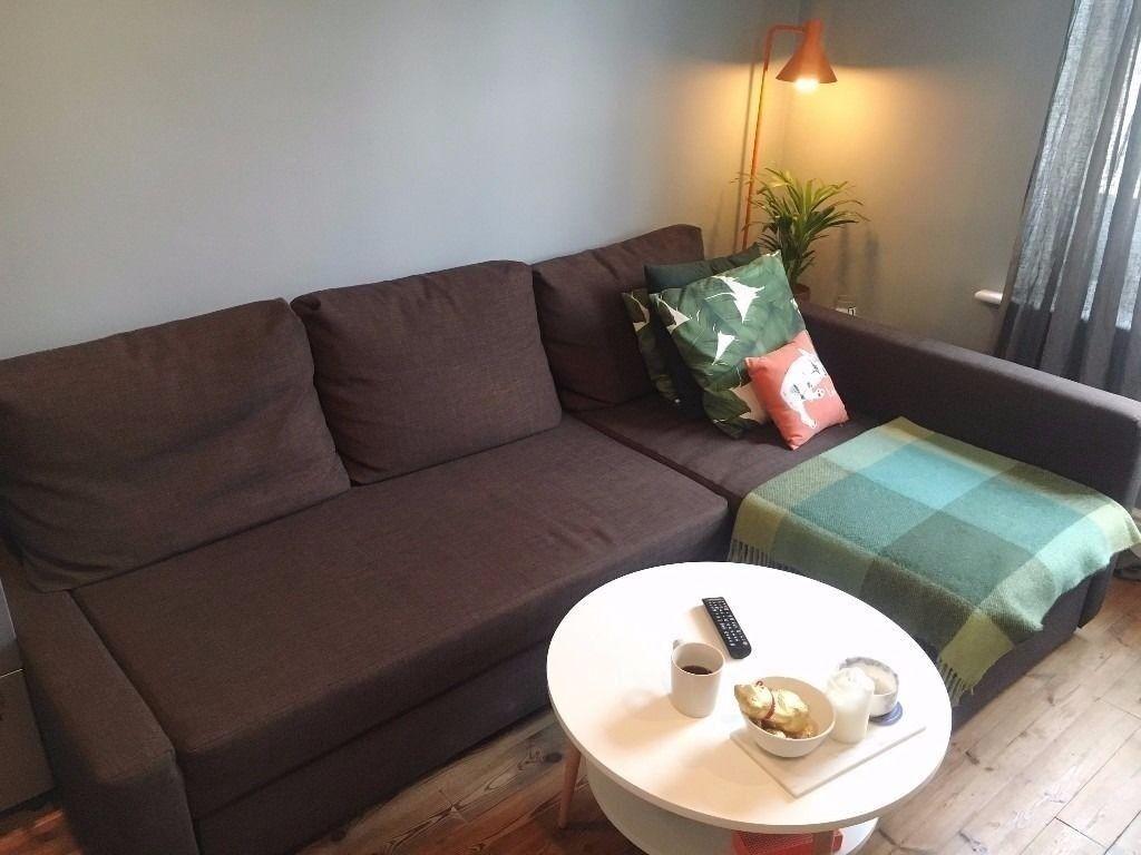 ikea friheten sofa bed with storage brown in luton. Black Bedroom Furniture Sets. Home Design Ideas