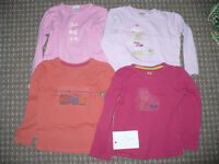 Bundle of 5 long sleeve tops/t-shirts for girl 4-5 years old (2x Peppa Pig).