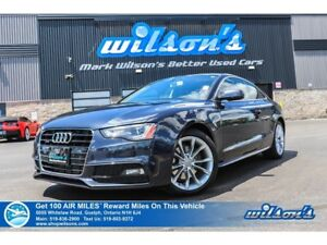 2015 Audi A5 KOMFORT | AWD | LEATHER | SUNROOF | HEATED SEATS |
