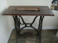 Original Singer Sewing Machine treddle table
