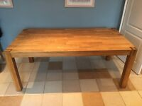 Large solid oak table for sale