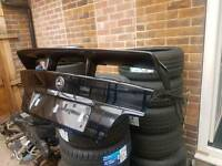 E36 BMW COUPE BOOTLID WITH VERY RARE AS SCHNITZER SPOILER DRIFT TRACK