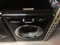 BEKO 9KG 1300 A++ SPIN WASHING MACHINE BLACK RECONDITIONED
