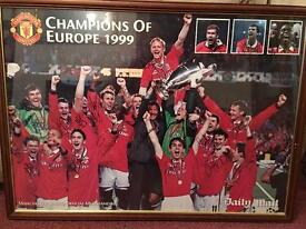 Signed Manchester United poster