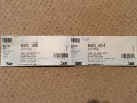 Mongol Horde tickets x 2 28.1.18 REDUCED