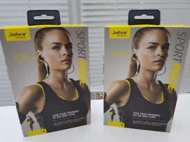 2 Brand-New Jabra Pulse Sport Headphones (Built in Heart Rate Monitors)