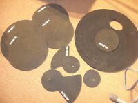 Vic Firth (MUTEPP3) Practice Pad Set - 5 Piece Drum Set + Hi-Hat & 2 Cymbal Pads