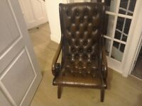 Lovely chesterfield leather chair