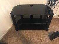 Black glass tv stand collection only