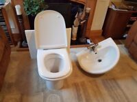 Back-to-Wall Toilet and Sink
