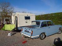Cool 1970 Portafold Folding Caravan, beach hut themed and summer ready!