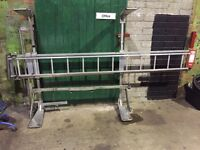 Rax Roof Rack for High Top Van Incoprporating Roll Down Ladder