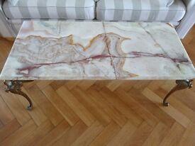 Beautiful Belgian Onyx coffee table