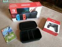 Nintendo Switch 32gb neon and blue joy cons