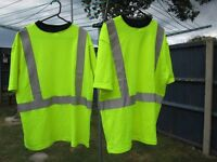 2 x mens large high vis t-shirts