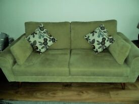 DFS SOFA, 2 CHAIRS AND STORAGE FOOTSTOOL