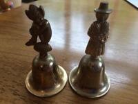 Pair of brass bells