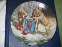 "Cocker Spaniel porcelain plate from ""Puppy Playtime"" collection"