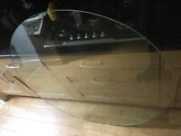 "Glass Table Top 46.5"" / 118cm Round 10mm Thick Tempered Glass"