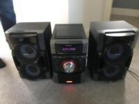 Sony radio, CD player, iPhone docking station