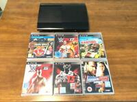 Sony PS3 console with 6 games and controller