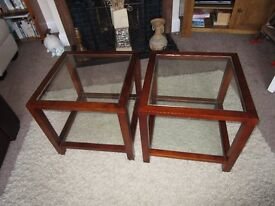 LOVELY PAIR OF LAMP/SIDE TABLES
