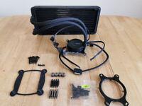 FULLY SERVICED - NZXT Kraken X61 280mm liquid cooler CPU and GPU INTEL AND AMD RYZEN
