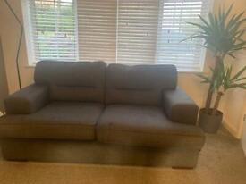 Modern grey sofa/settee 3 + 2