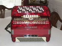GUERRINI CHROMTIC ACCORDION IN GOOD PLAYING CONDITION