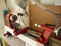 Axminster hobby variable speed wood turning lathe