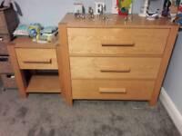 Next oak bedroom furniture bundle