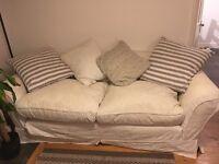 4 seater cream sofa