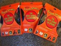3 packs of Remo Sound Shape Packs (5 pieces in each)