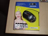 SUMVISION Black 3-button USB Wired 800dpi Optical Mouse SVO4-L37 – NEW