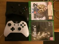 Xbox One 500GB with Eight games and Two controllers