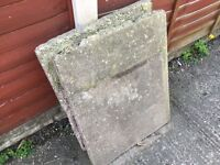 Concrete slabs ** USED ** FREE to collector
