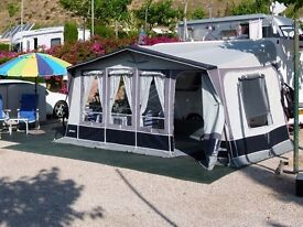 Inaca Siena Awning. Size T875 (fits 861cms to 885cms) Blue/Grey