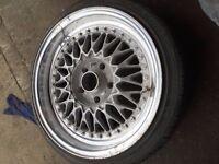 E36 E46 195/40/17 BBS 1 (one) Alloy wheel deep dish with Falken Tyre