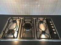 AEG 5 Ring Gas Hob with Matching Extractor Hood