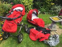 Bebecar Pushchair & Carrycot