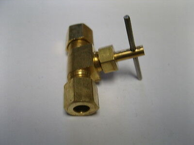 Needle Valve Brass Fitting - Brass Fitting: Needle Valve Male Pipe 1/4