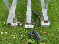 """""""RAX"""" 3 PIECE ROOFRACK/BARS STRONG GALV. OFF OF FLAT TOP TRANSIT £40"""