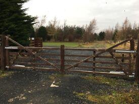 Wooden 5 Bar Electric Gates